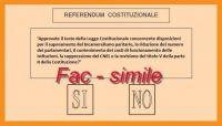 Referendum costituzionale - scheda